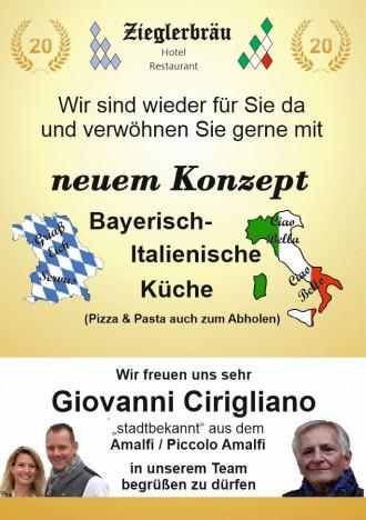 Bayerisch-italienische Küche